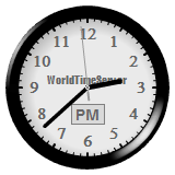 Vinaora World Time Clock Black