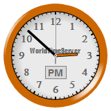 Vinaora World Time Clock Brown