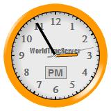 Vinaora World Time Clock Yellow