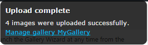 Upload Complete