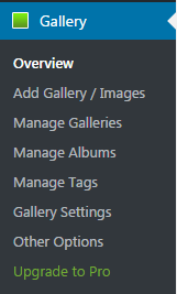 Gallery Options